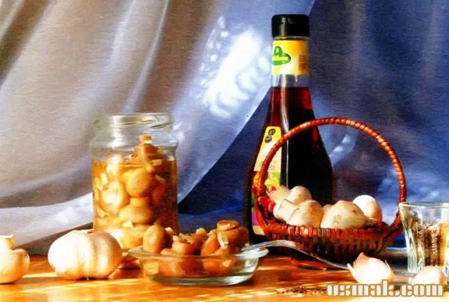 Рецепт Шампиньоны маринованные с чесноком