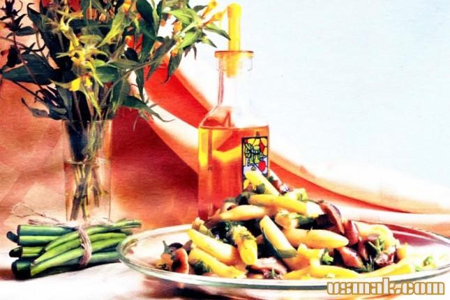 Рецепт Грибы маринованные со стручковой фасолью