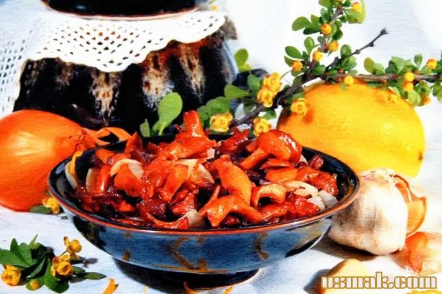 Рецепт Грибы лисички на зиму