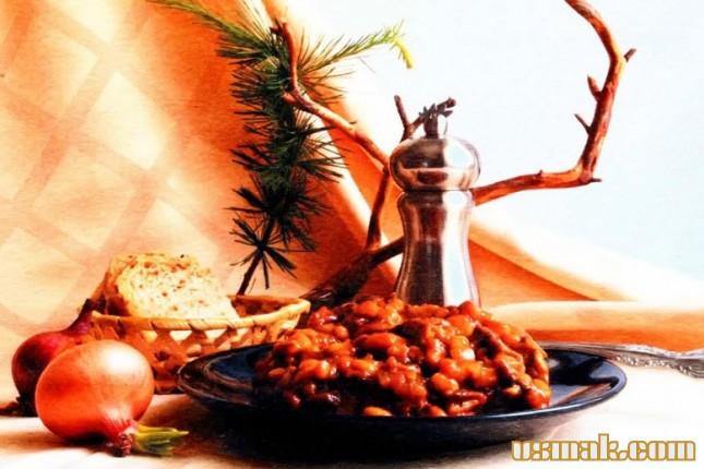 Рецепт Грибы с фасолью на зиму