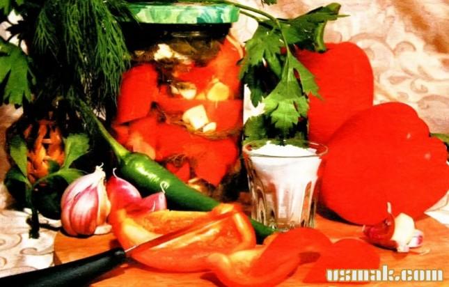 Рецепт Перец соленый на зиму
