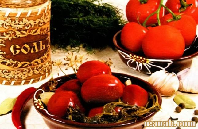 Рецепт Помидоры соленые на зиму