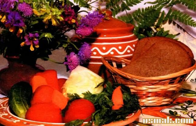 Рецепт Соленые помидоры с овощами