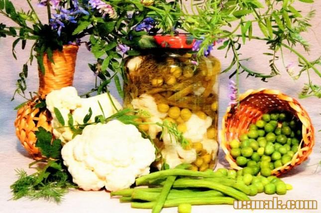 Рецепт Капуста цветная консервированная