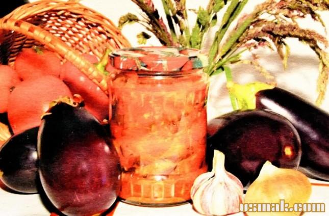 Рецепт Баклажаны с помидорами и перецем болгарским