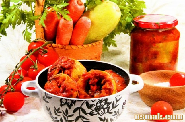 Рецепт Кабачки, помидоры, морковь на зиму