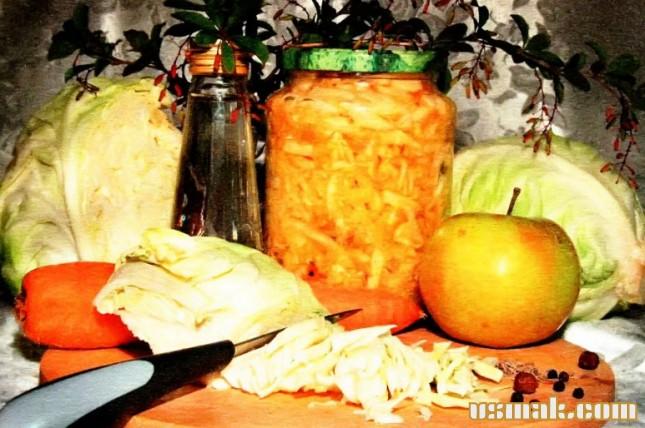 Рецепт Капуста с морковкой на зиму