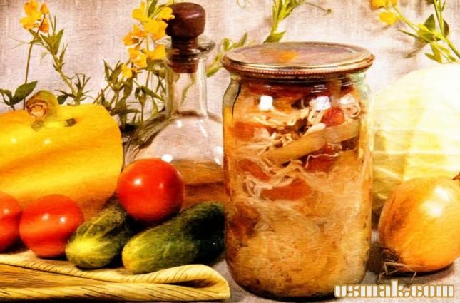 Рецепт Белокочанная капуста на зиму