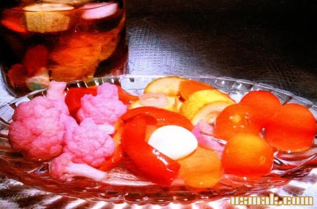 Рецепт Кабачок цветная капуста помидоры