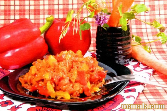 Рецепт Икра из перца и моркови