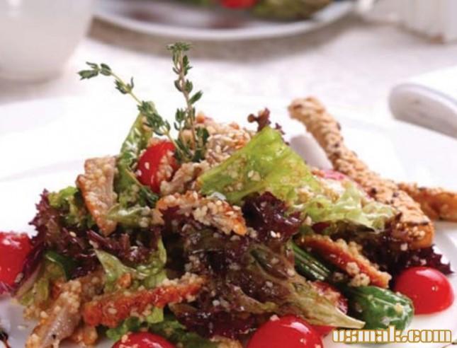 Рецепт Салат с угрем копченым