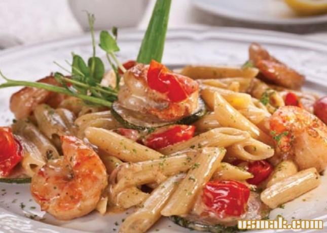 Рецепт Сливочная паста с креветками