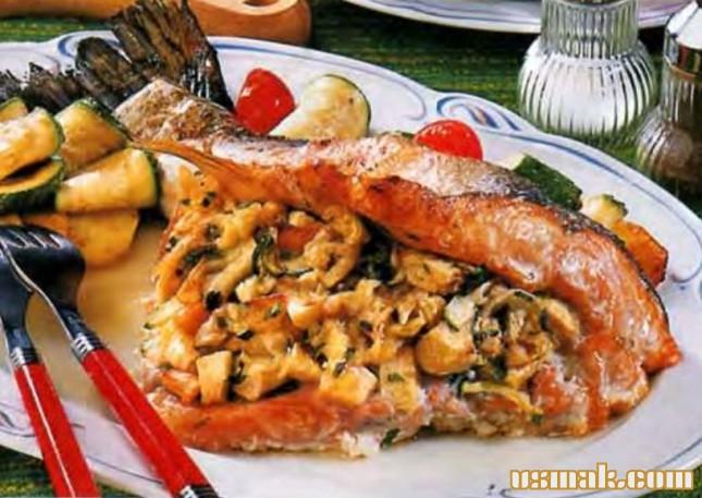 Рецепт Рыба с яблоками