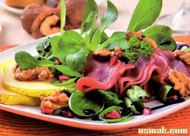 Рецепт Салат с вяленым мясом