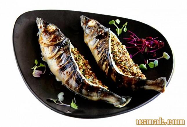 Рецепт Рыба с орехами