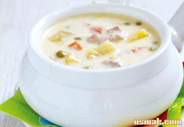 Рецепт Суп с сыром и курицей