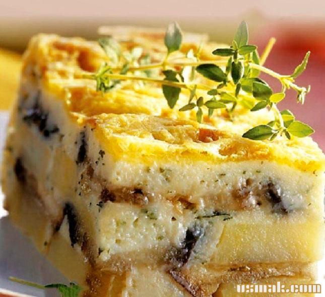 Рецепт Грибная запеканка с картофелем