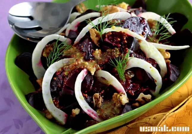 Рецепт Салат из свеклы с изюмом