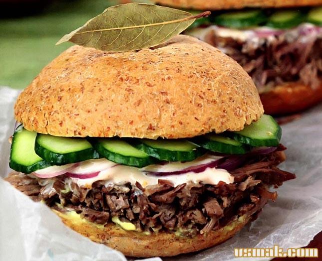 Рецепт Бургер с говядиной