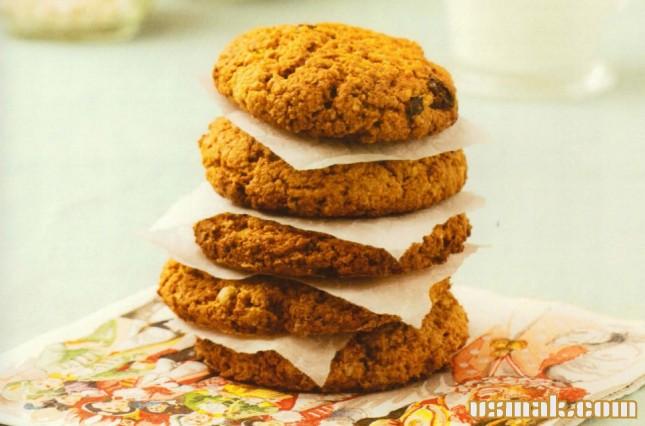 Рецепт Овсяное печенье с сухофруктами
