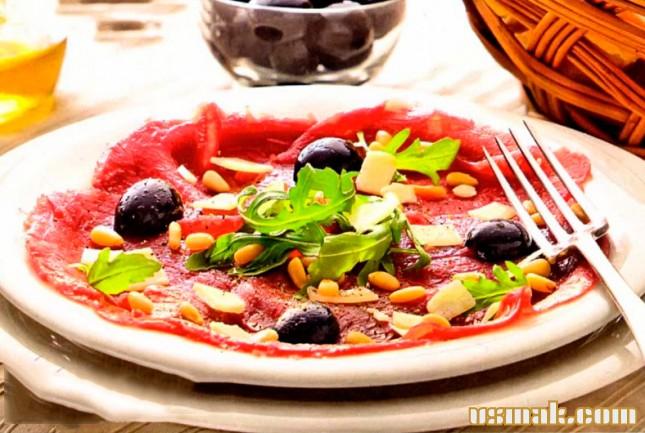Рецепт Карпаччо из говядины