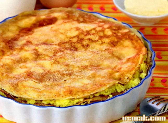 Рецепт Пирог из блинов