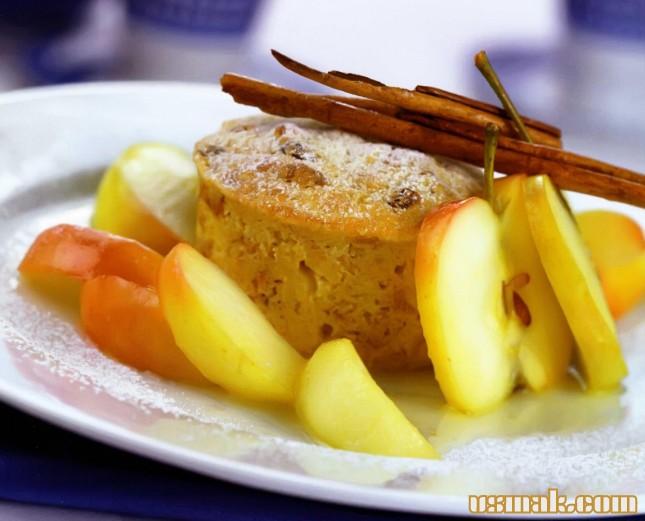 Рецепт Пудинги молочные с яблоками