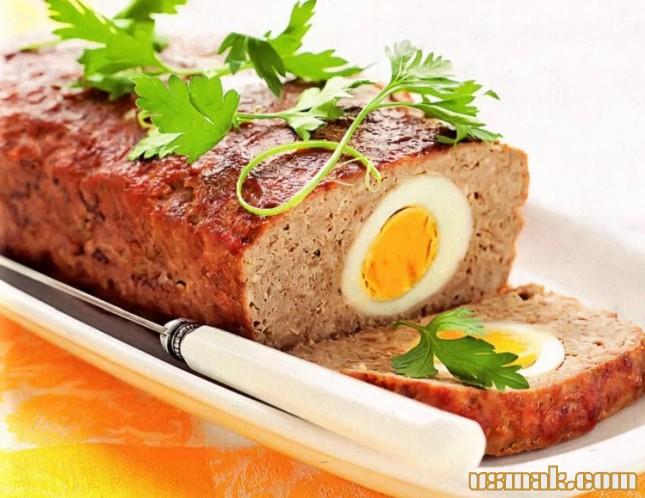 Рецепт Мясной хлеб с яйцом