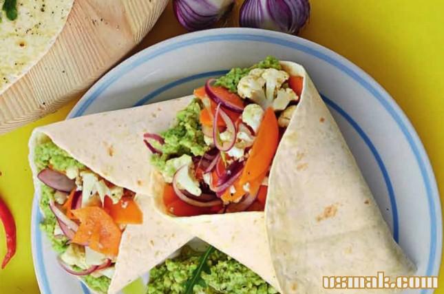 Рецепт Лаваш с овощами и авокадо