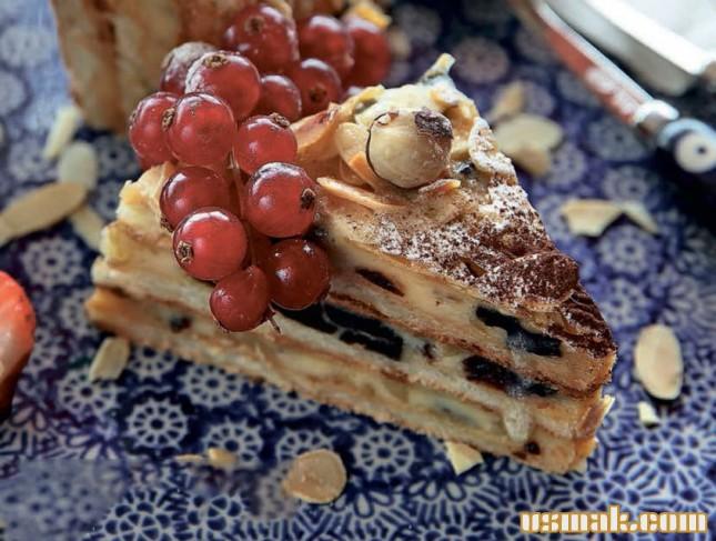 Рецепт Ореховый торт с черносливом
