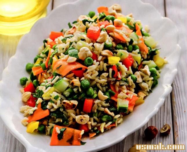 Рецепт Овощной салат с рисом