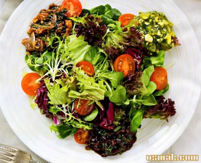 Рецепт Салат с необычными заправками