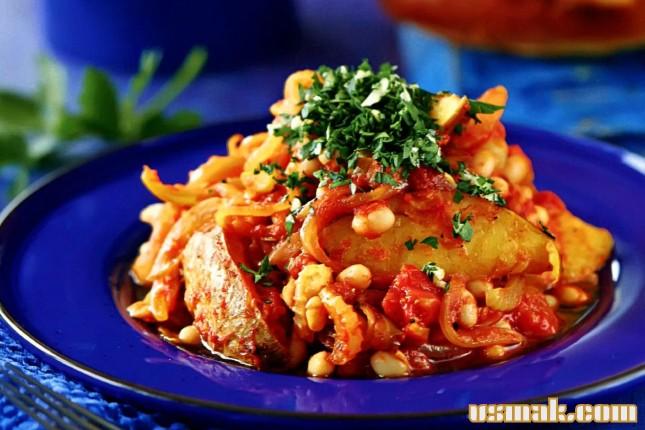 Рецепт Картофельное рагу с фасолью