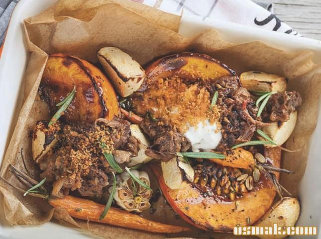 Рецепт Бычьи хвосты с запеченными овощами