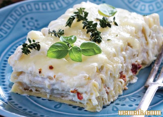 Рецепт Белая лазанья с курицей и тимьяном