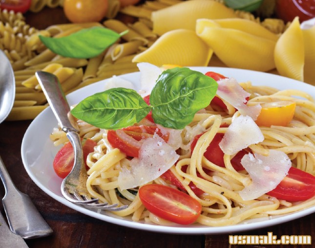 Рецепт Лингуине с томатами и базиликом