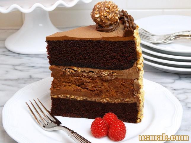 Рецепт Шоколадный торт с чизкейком из Нутеллы
