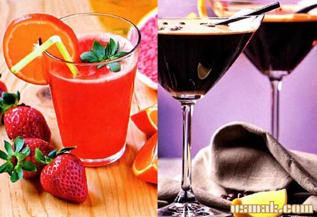 Рецепт Вкусные коктейли