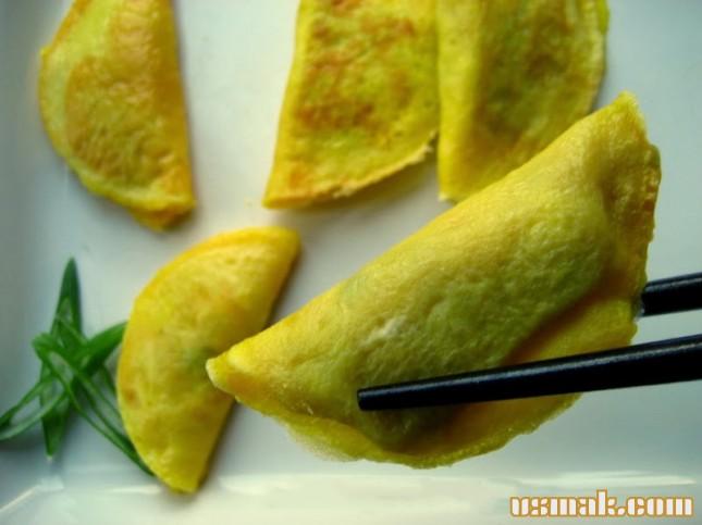 Рецепт Китайские Яичные Пельмени
