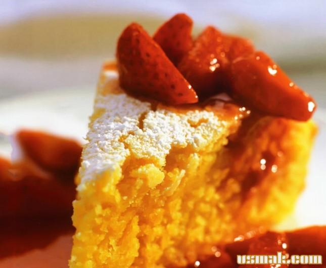 Рецепт Апельсиновый пирог с полентой