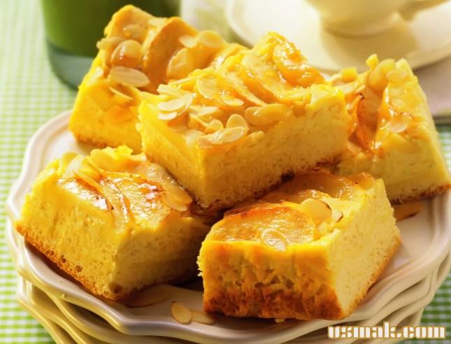 Рецепт Яблочный кекс с имбирем