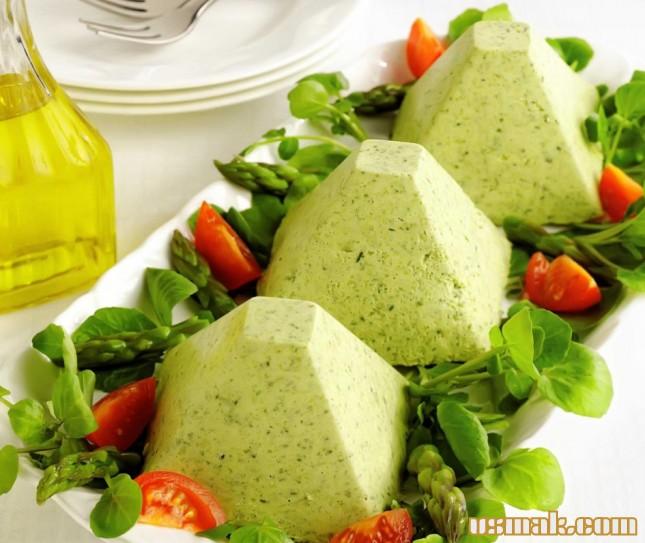 Рецепт Мусс из спаржи и шпината
