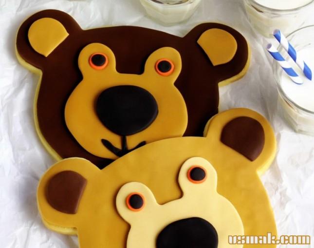 Рецепт Праздничное печенье «Мишки»