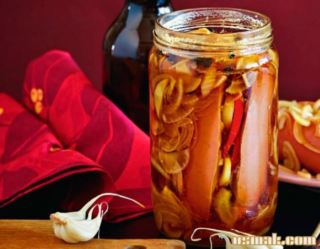 Рецепт Острые утопенцы маринованные шпикачки к пиву