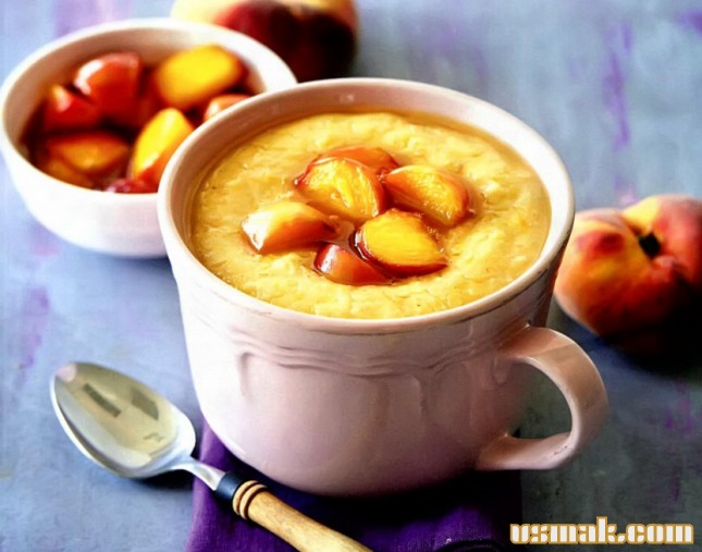 Рецепт Овсяная каша с изюмом и персиками