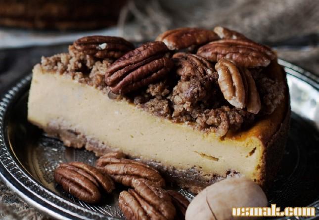 Рецепт Тыквенный чизкейк с пеканом