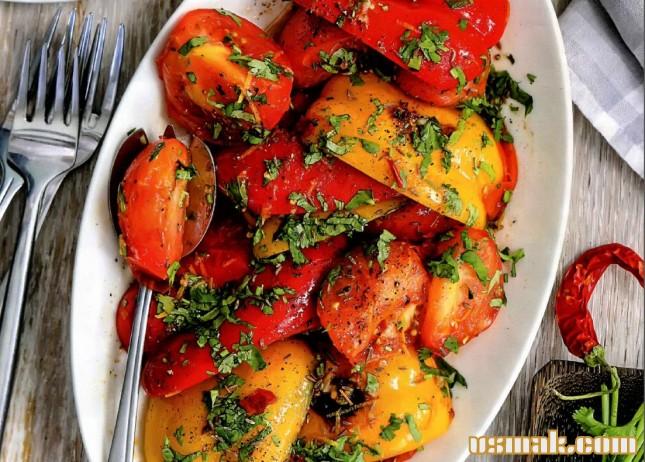 перцев рецепт фото из салат жареных